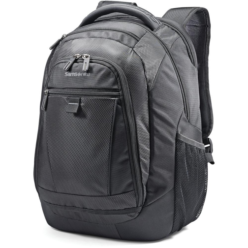 "Samsonite Tectonic 2 Carrying Case (Backpack) for 15.6"" Notebook - Black - Shock Resistant Interior, Slip Resistant Shoulder Strap - Poly Ballistic, Tricot Interior - Shoulder Strap, Handle - 16.9"" He. Picture 2"