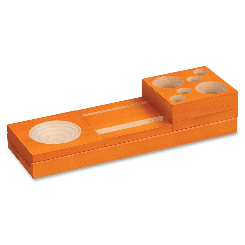 Safco Orange Splash Wood Desk Set 2 3 Quot Height X 10 6