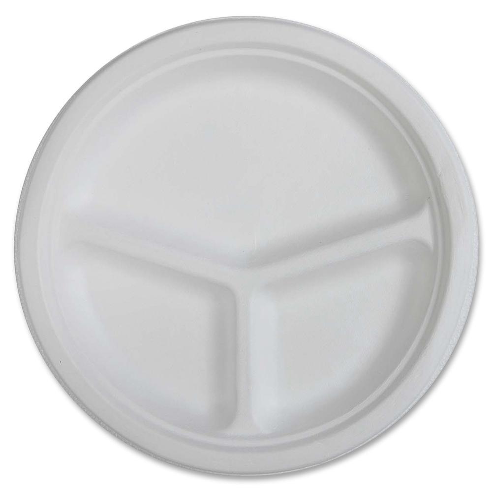 Also Consider  sc 1 st  BisonOffice.com & Genuine Joe 3-compartment Disposable Plates - 10