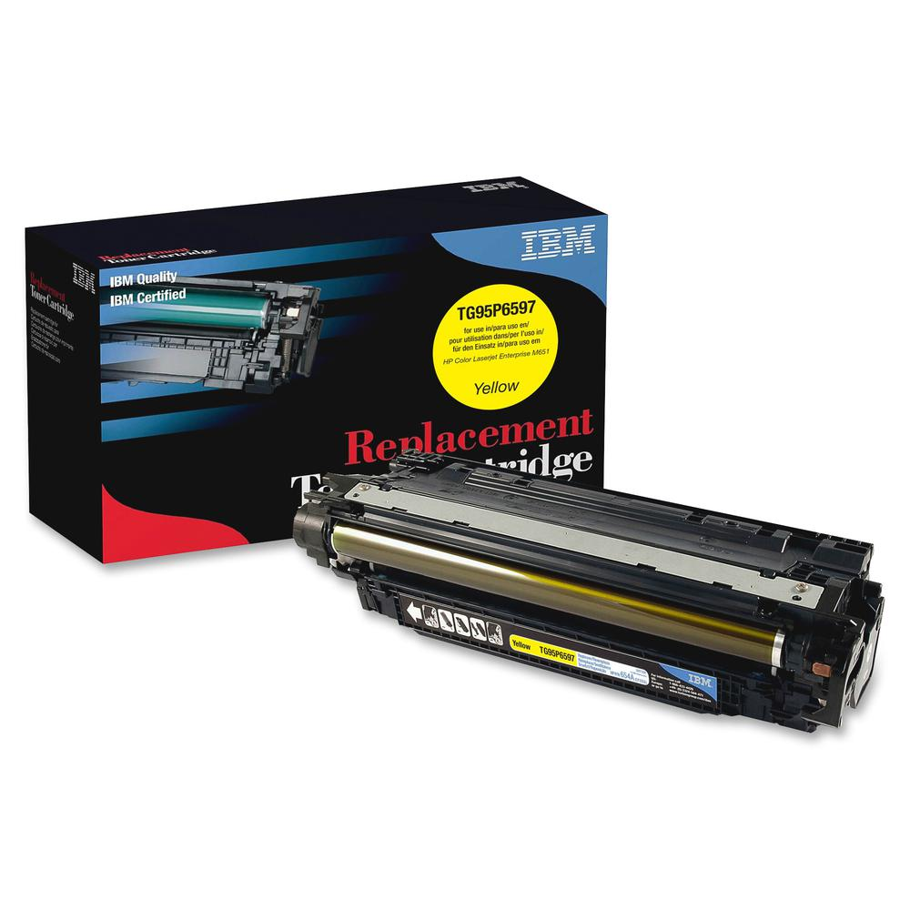 IBM Remanufactured Toner Cartridge - Alternative for HP 654A (CF332A) - Laser - 15000 Pages - Yellow - 1 Each. Picture 2