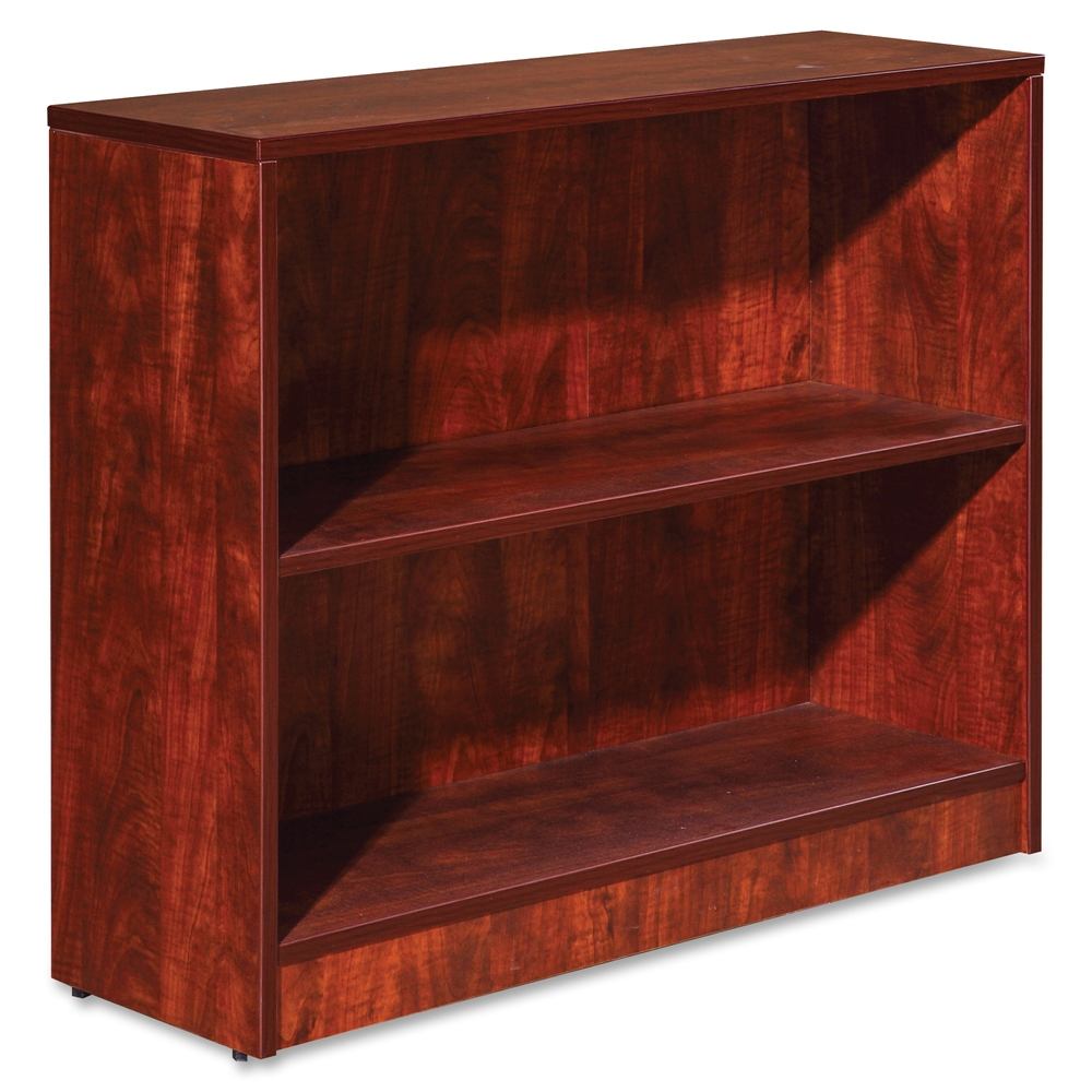 Lorell Essentials Series Cherry Laminate Bookcase - 36