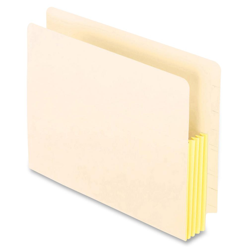 """Pendaflex Straight Tab Cut Letter Recycled File Pocket - 8 1/2"""" x 11"""" - 1 3/4"""" Expansion - End Tab Location - Manila - Manila - 10% - 25 / Box. Picture 2"""