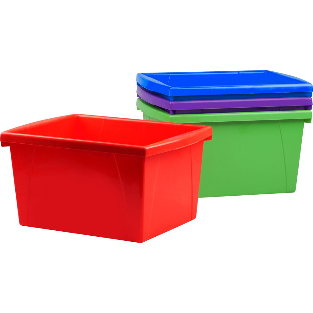Storex 4 Piece Small Storage Bins External Dimensions
