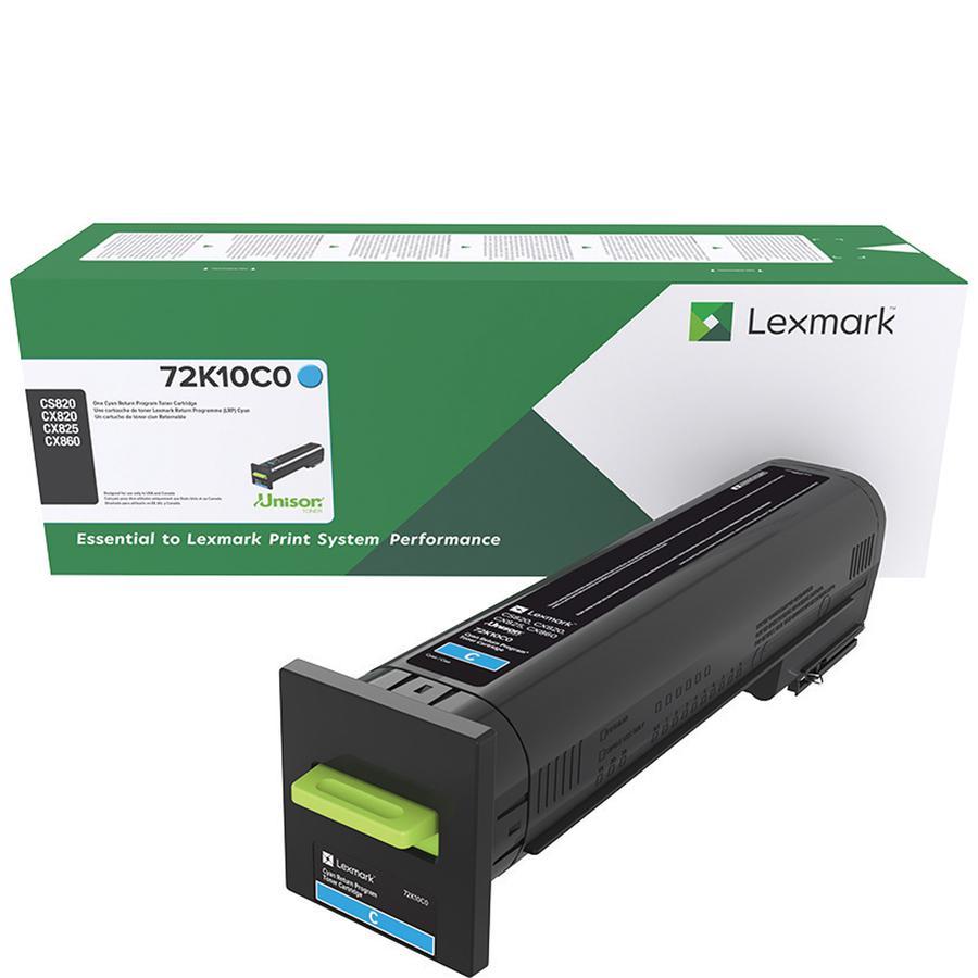 Lexmark Unison Original Toner Cartridge - Laser - Standard Yield - 8000 Pages - Cyan - 1 Each. Picture 3