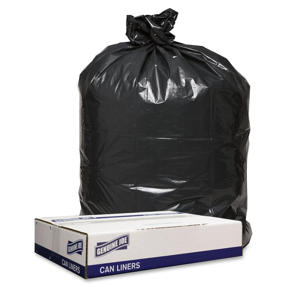 Genuine Joe 1 2mil Black Trash Can Liners 43 Quot Width X 47