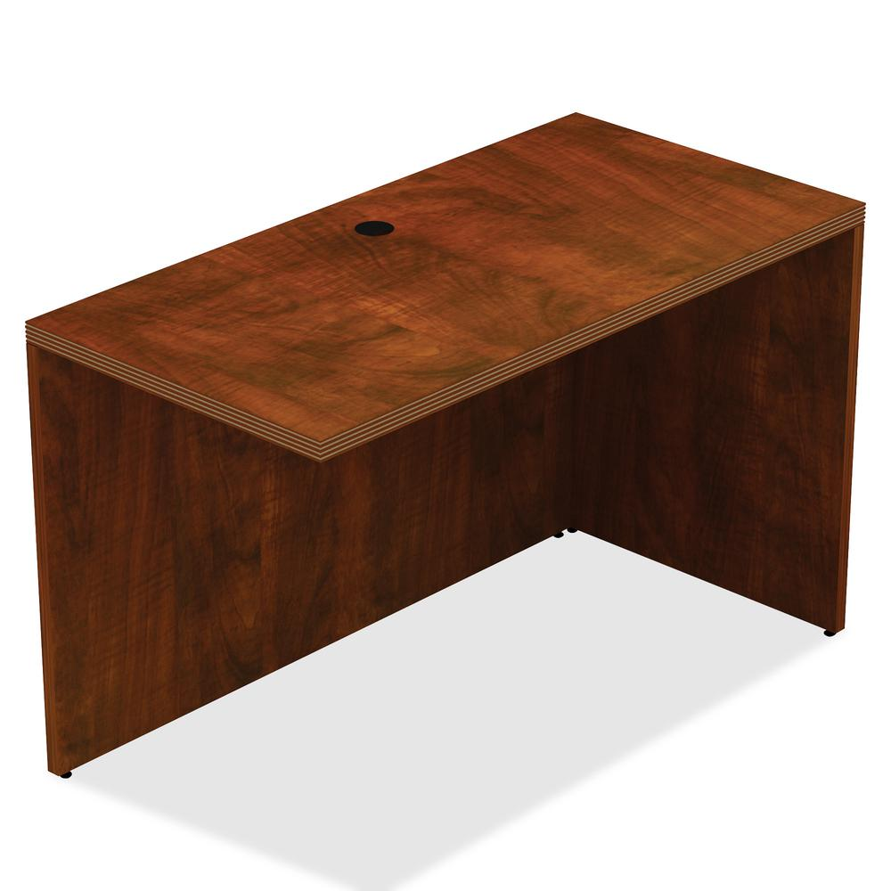 """Lorell Chateau Series Return - 1.5"""" Top, 48"""" x 24"""" x 30"""" - Reeded Edge - Finish: Cherry Laminate Top"""