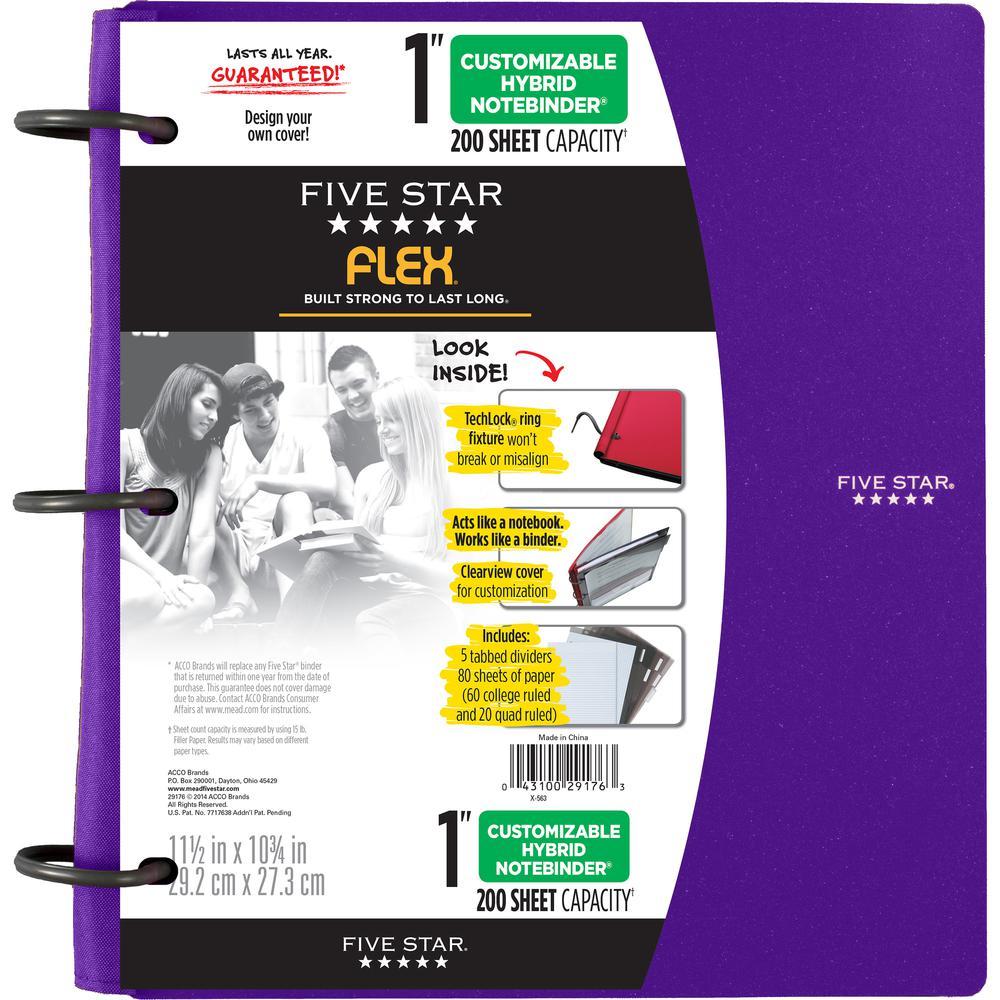 "Five Star FiveStar Flex Hybrid 1"" NoteBinder"