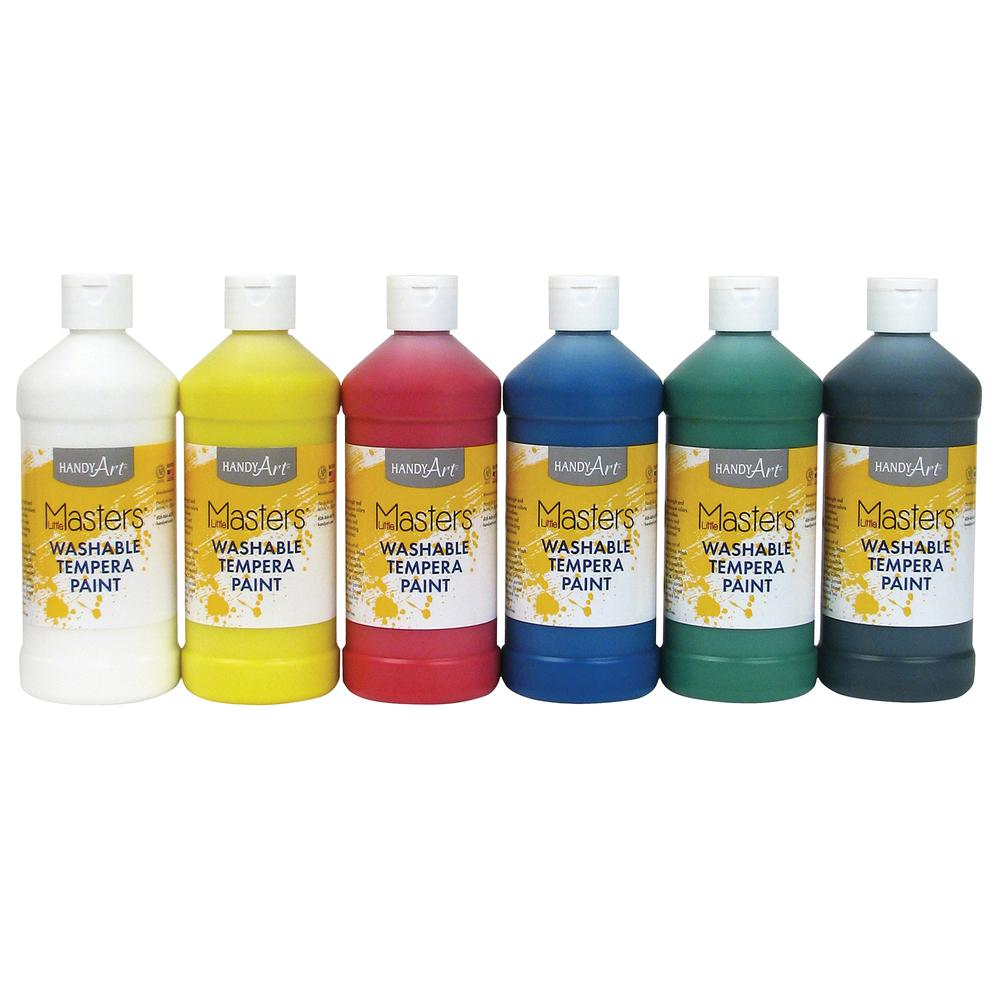 Handy Art Masters Washable Tempera Paint 16 Oz 6 Set