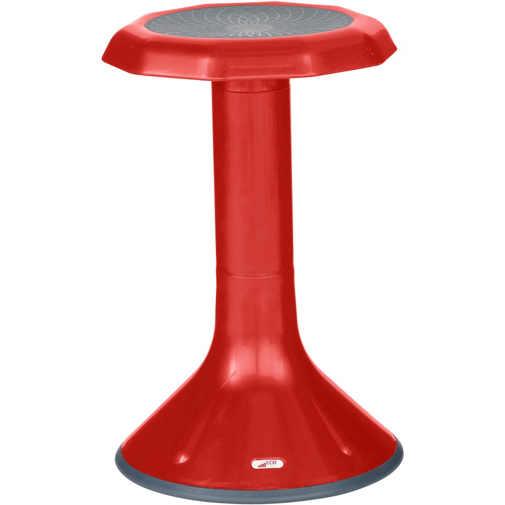 Ecr4kids 20 Quot Ace Stool Rounded Base Red