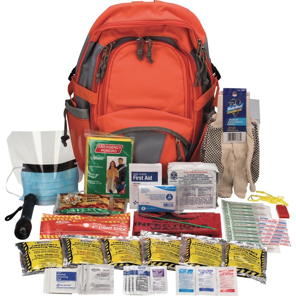 "First Aid Only Emergency Preparedness Backpack - 63 x Piece(s) For 1 x Individual(s) - 17.5"" Height x 12.5"" Width Length - 1 Each. Picture 3"