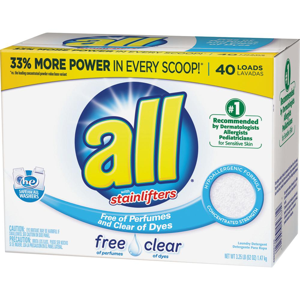 all Stainlifters Laundry Detergent - Concentrate Powder - 52 oz (3.25 lb) - 6 / Carton - White. Picture 2