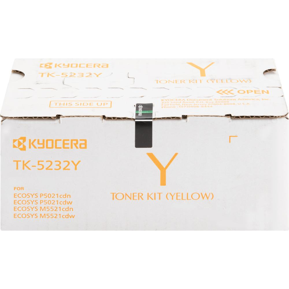 Kyocera TK-5232Y Original Toner Cartridge - Yellow - Laser - High Yield - 2200 Pages - 1 Each. Picture 2