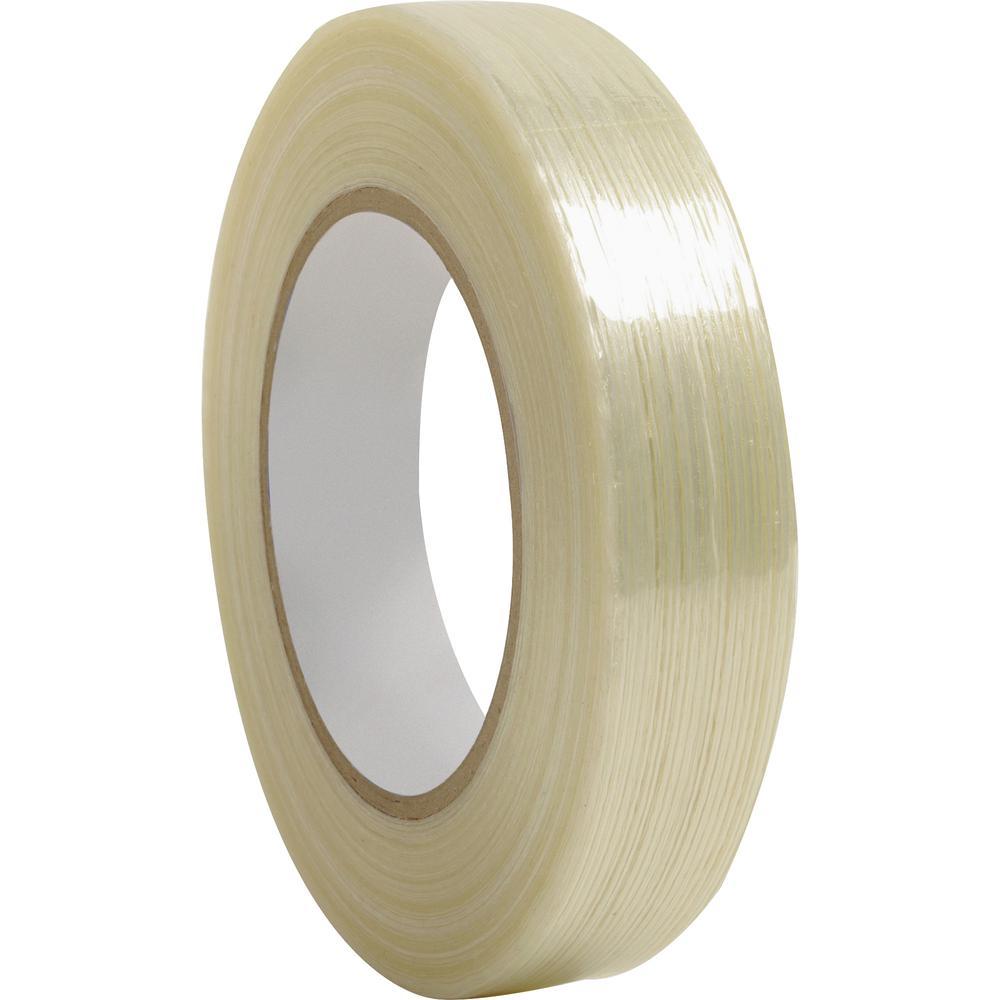 "Business Source Filament Tape - 60 yd Length x 1"" Width - 3"" Core - Fiberglass Filament - 1 / Roll - White. Picture 2"