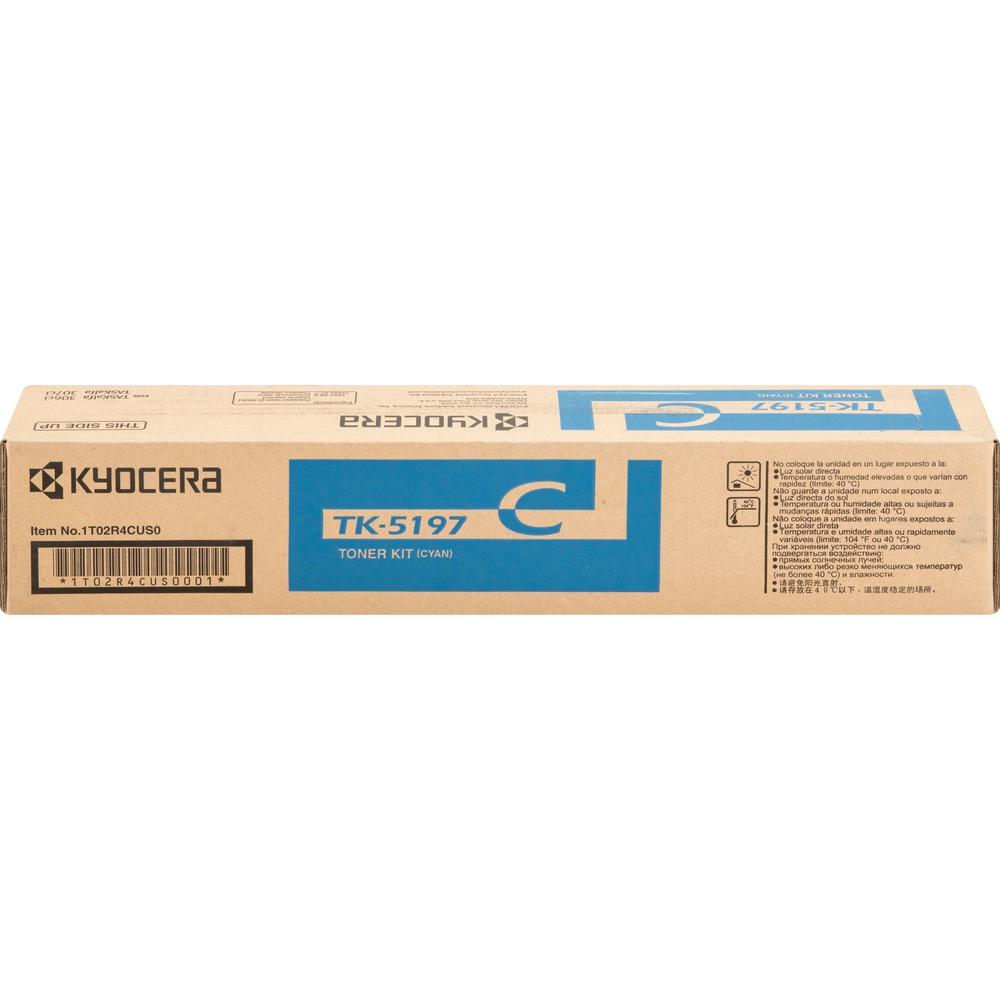 Kyocera TK-5197C Original Toner Cartridge - Cyan - Laser - 7000 Pages - 1 Each. Picture 2