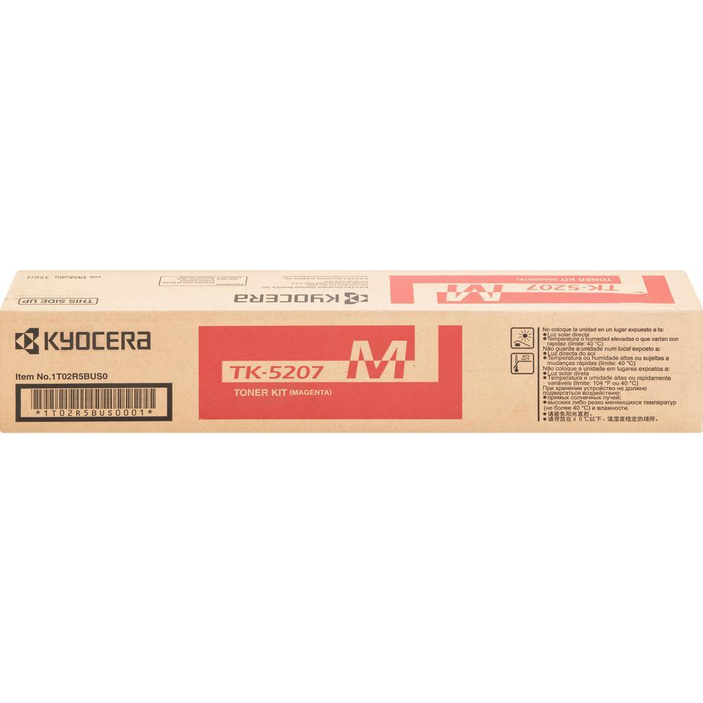 Kyocera TK-5207M Toner Cartridge - Magenta - Laser - 12000 Pages - 1 Each