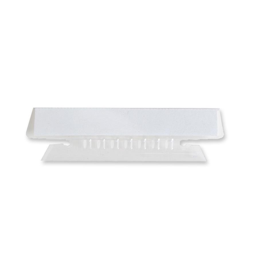 """Business Source Plastic Clear Tabs - 25 Tab(s)3.50"""" Tab Width - Clear Plastic Tab(s) - 25 / Pack. Picture 2"""