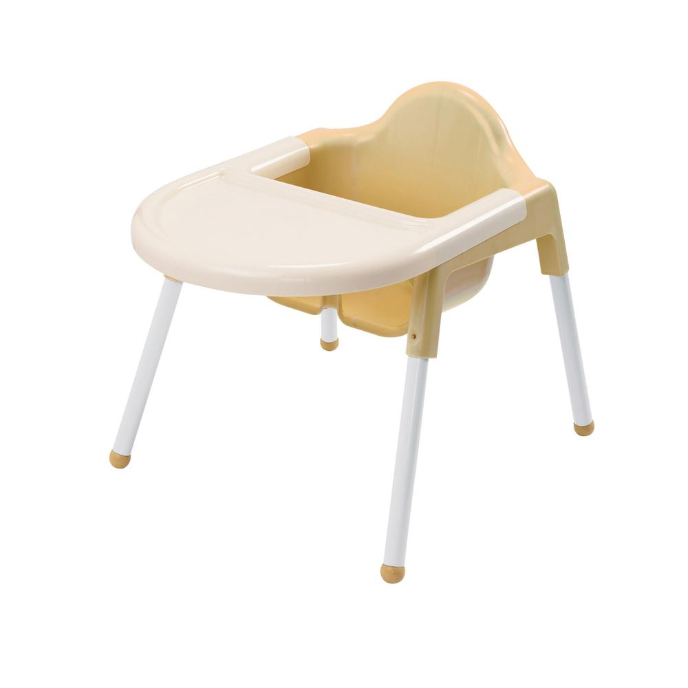 """Angeles Infant Feeding Chair - Four-legged Base - Off White - 7"""" Seat Depth - 22"""" Length x 16"""" Width - 19"""" Height - 1 Each. Picture 3"""