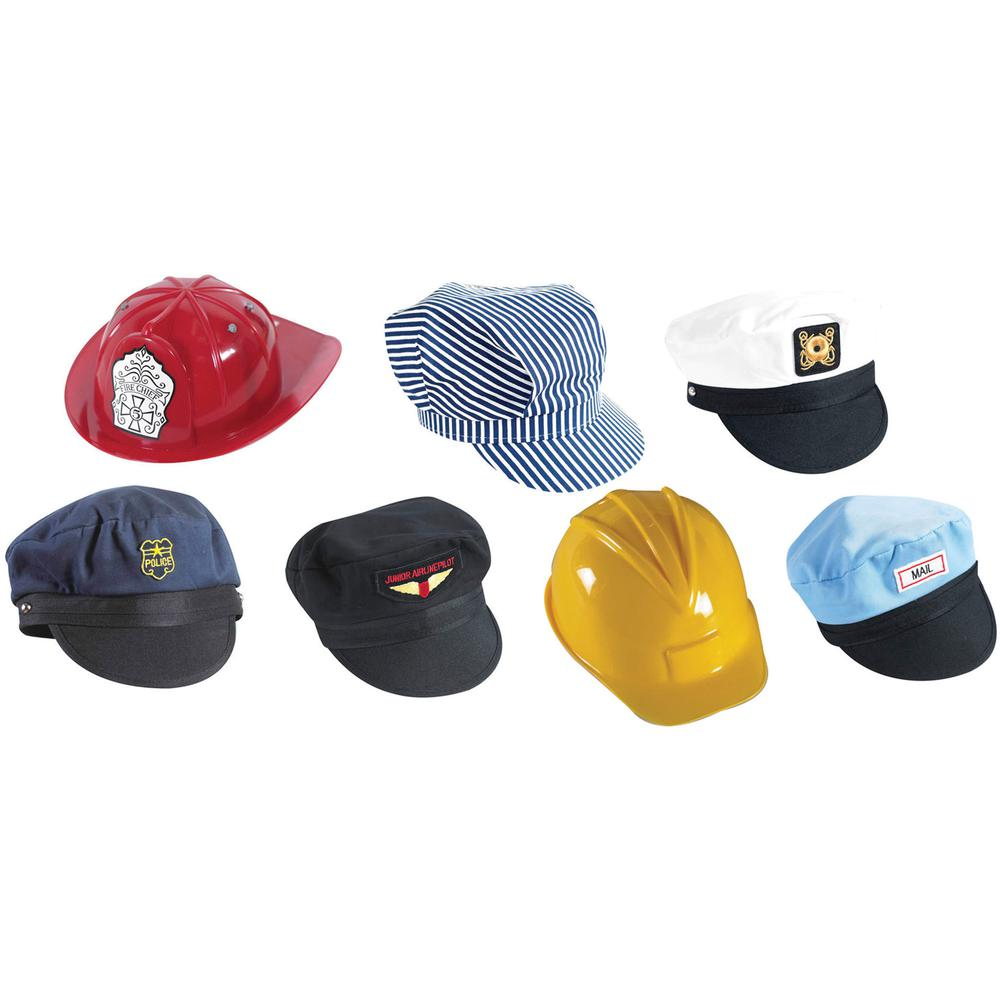 Children's Factory Go To Work Hats Play Set - Multi. Picture 2
