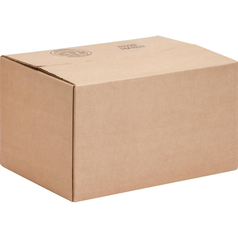 """International Paper Shipping Case - External Dimensions: 10"""" Length x 14"""" Width x 8"""" Height - 200 lb - Flap Closure - Corrugated Board - Kraft - For Storage, Packages - 25 / Pack"""