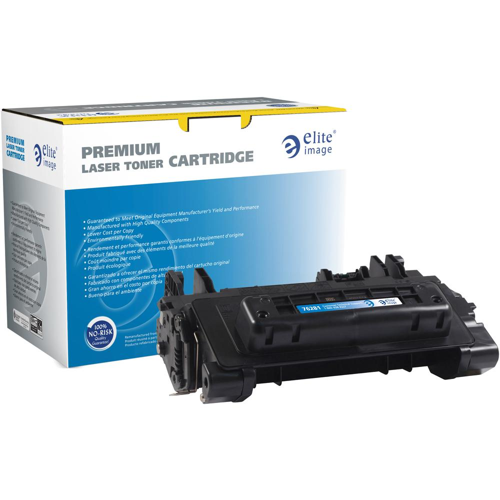 Elite Image Remanufactured Toner Cartridge - Alternative for HP 81A (CF281A) - Black - Laser - Extended Yield - 18000 Pages - 1 Each. Picture 2