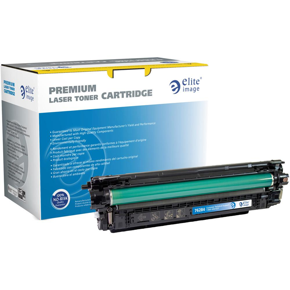 Elite Image Remanufactured Toner Cartridge - Alternative for HP 508A (CF361A) - Cyan - Laser - 5000 Pages - 1 Each. Picture 2