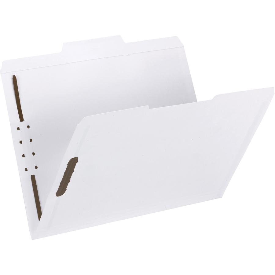 """Smead Fastener File Folders - Letter - 8 1/2"""" x 11"""" Sheet Size - 3/4"""" Expansion - 2 x Prong K Style Fastener(s) - 2"""" Fastener Capacity - 1/3 Tab Cut - Assorted Position Tab Position - 11 pt. Folder Th. Picture 2"""