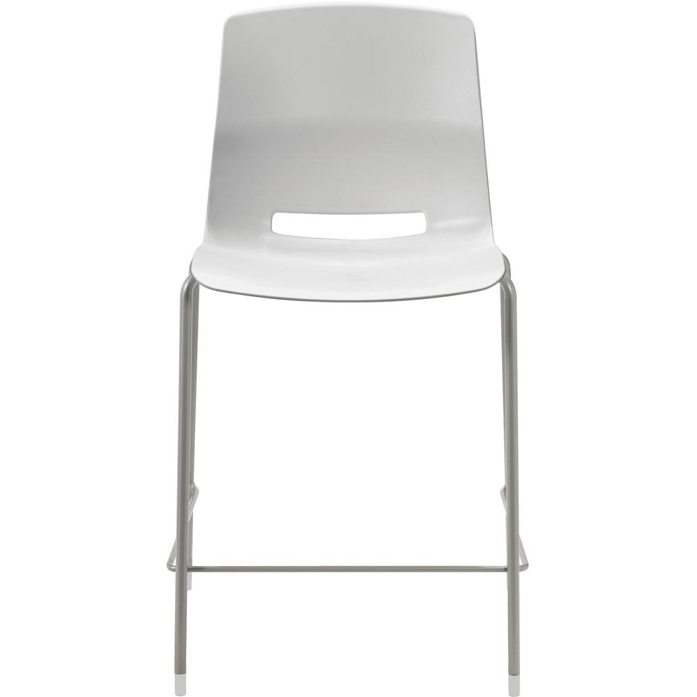 """KFI Swey Collection 25"""" Multipurpose Stool - Light Gray Polypropylene Seat - Light Gray Polypropylene Back - Silver Steel Frame - Four-legged Base - 18"""" Seat Width x 17"""" Seat Depth - 20.5"""" Width x 20.. Picture 2"""