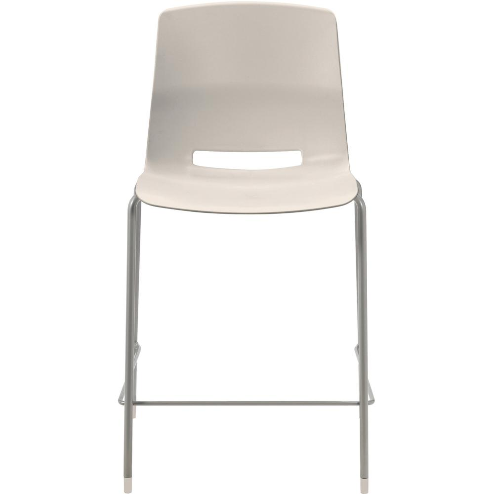 """KFI Swey Collection 25"""" Multipurpose Stool - Moonbeam Polypropylene Seat - Moonbeam Polypropylene Back - Silver Steel Frame - Four-legged Base - 18"""" Seat Width x 17"""" Seat Depth - 20.5"""" Width x 20.5"""" D. Picture 2"""