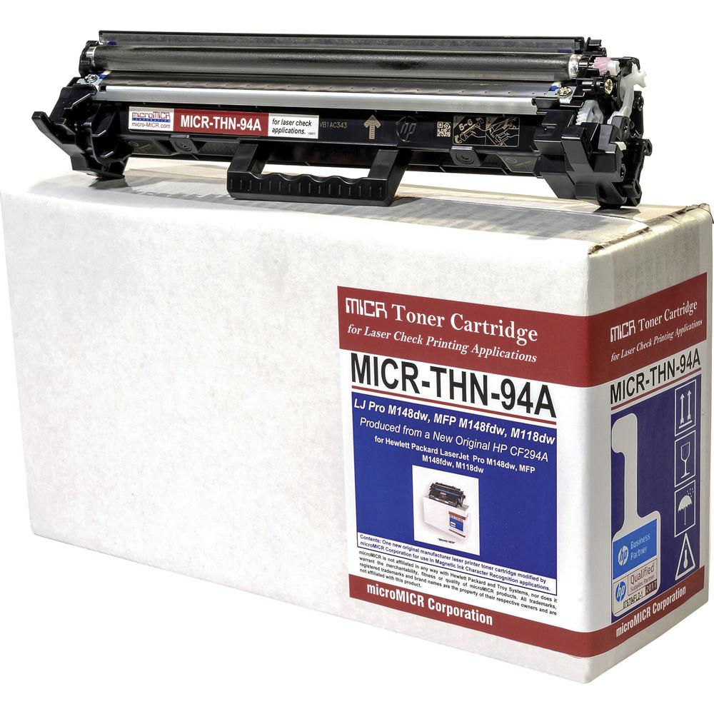 microMICR MICR Toner Cartridge - Alternative for HP CF294A - Black - Laser - 1200 Pages - 1 Each. Picture 2