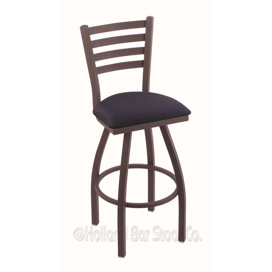 "Holland Bar Stools Bar Stool Jackie Swivel Stool - Black High Density Foam (HDF), Hardwood, Vinyl, Fabric Seat - Maple Powder Coated Steel, Polyester Frame - Four-legged Base - 19"" Length x 19"" Width . Picture 2"