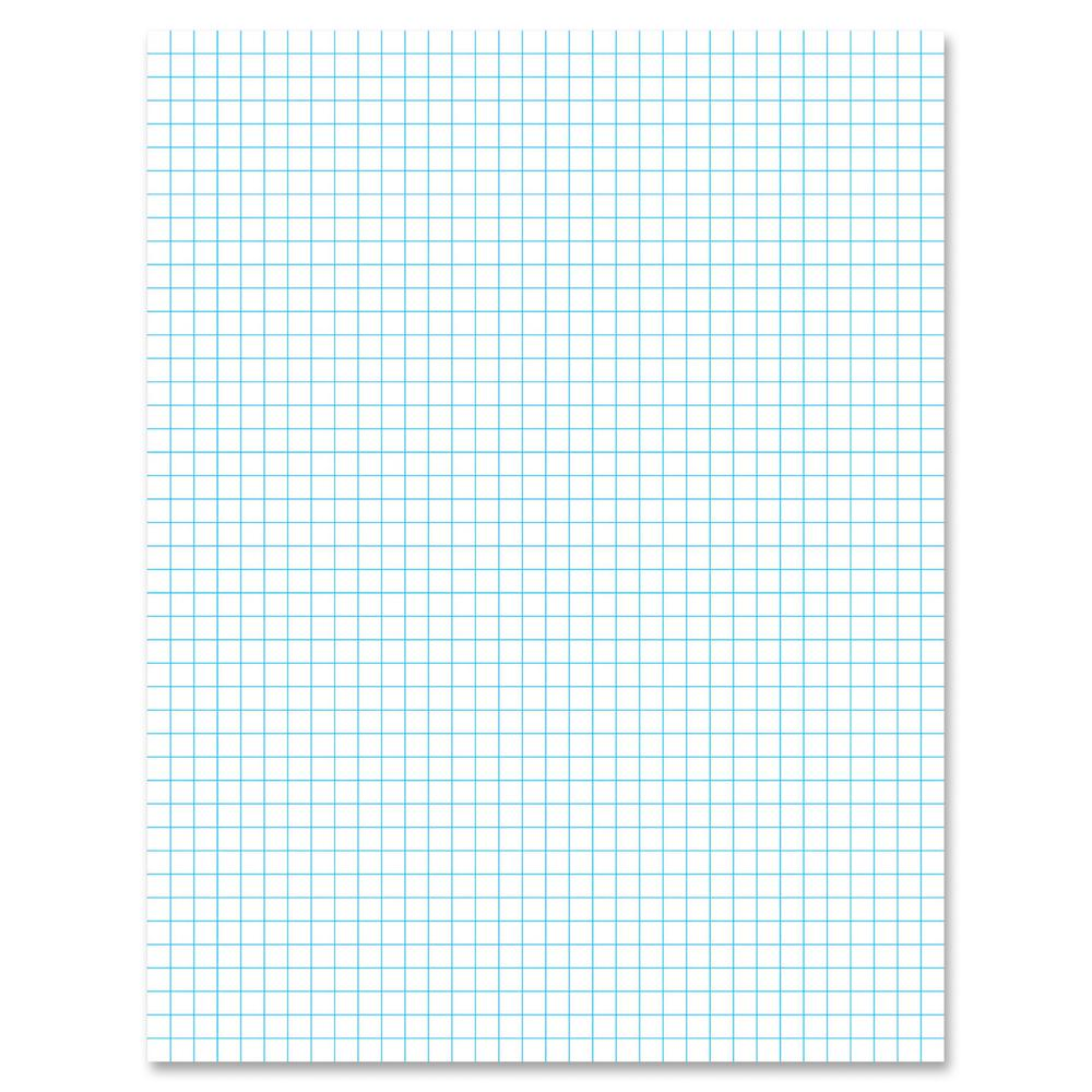 """Ampad 2 - Sided Quadrille Pads - Letter - 50 Sheets - Front Ruling Surface - 20 lb Basis Weight - 8 1/2"""" x 11"""" - White Paper - 50 / Pad. Picture 2"""