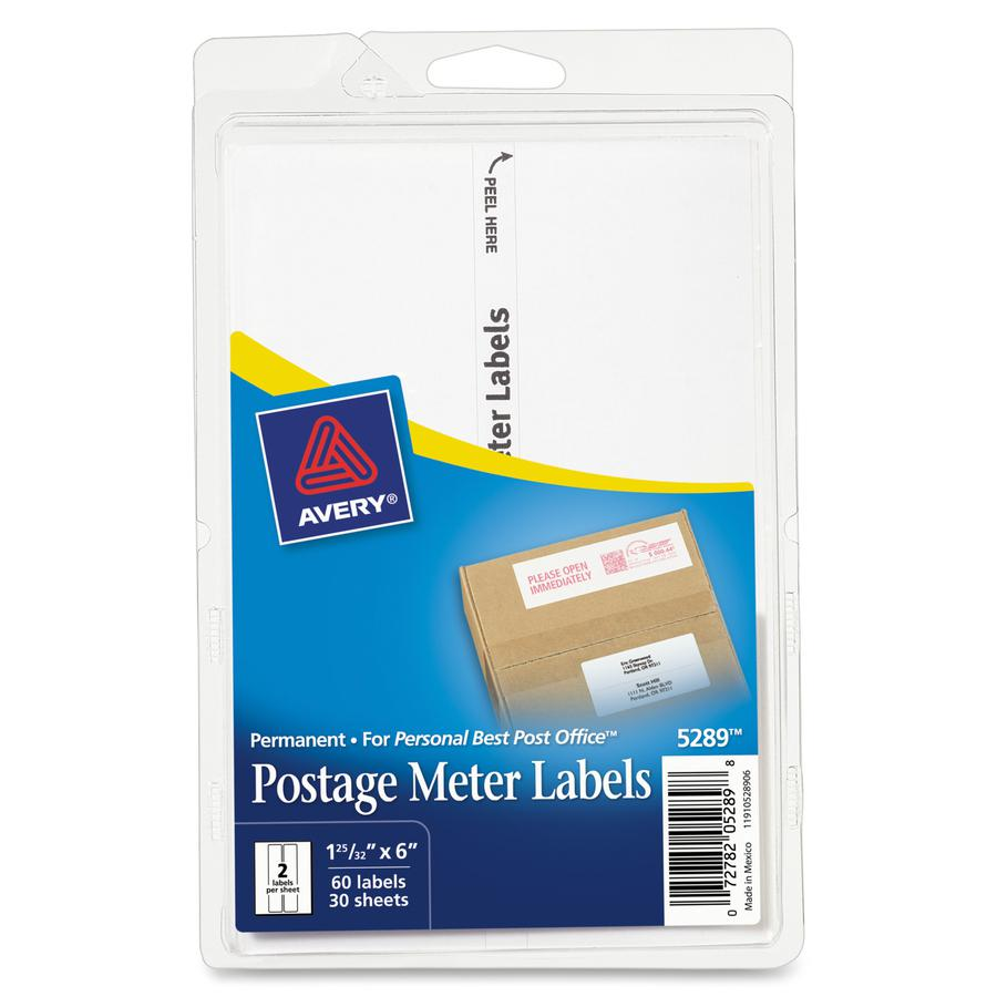 Avery® Address Label - Permanent Adhesive - Rectangle - White - Paper - 2 / Sheet - 30 Total Sheets - 60 Total Label(s) - 3. Picture 4