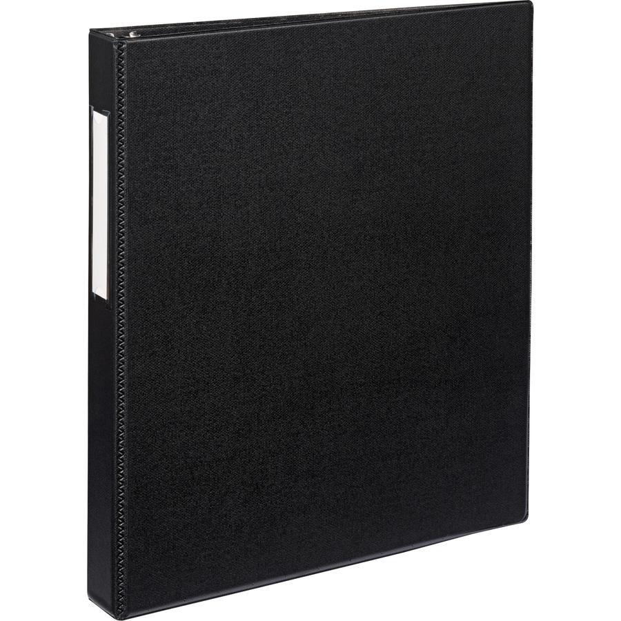 "Avery® Durable Binder - DuraHinge - 1"" Binder Capacity - Letter - 8 1/2"" x 11"" Sheet Size - 220 Sheet Capacity - 3 x Slant D-Ring Fastener(s) - 2 Internal Pocket(s) - Black - Recycled - Gap-free R. Picture 2"