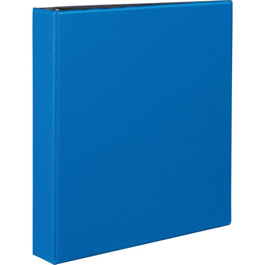 """Avery® Durable Binder - DuraHinge - 1 1/2"""" Binder Capacity - Letter - 8 1/2"""" x 11"""" Sheet Size - 375 Sheet Capacity - 3 x Slant D-Ring Fastener(s) - 2 Internal Pocket(s) - Blue - Recycled - Gap-fre. Picture 2"""