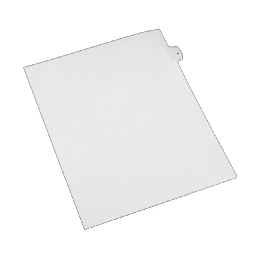 """Avery® Alllstate Style Individual Legal Dividers - 25 x Divider(s) - Side Tab(s) - 5 - 1 Tab(s)/Set - 8.5"""" Divider Width x 11"""" Divider Length - Letter - 8 1/2"""" Width x 11"""" Length - Paper Divider -. Picture 2"""