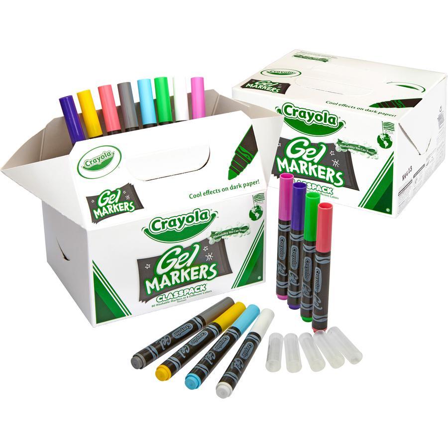 Crayola GelFX Washable Markers Classpack - Assorted - 80 / Box