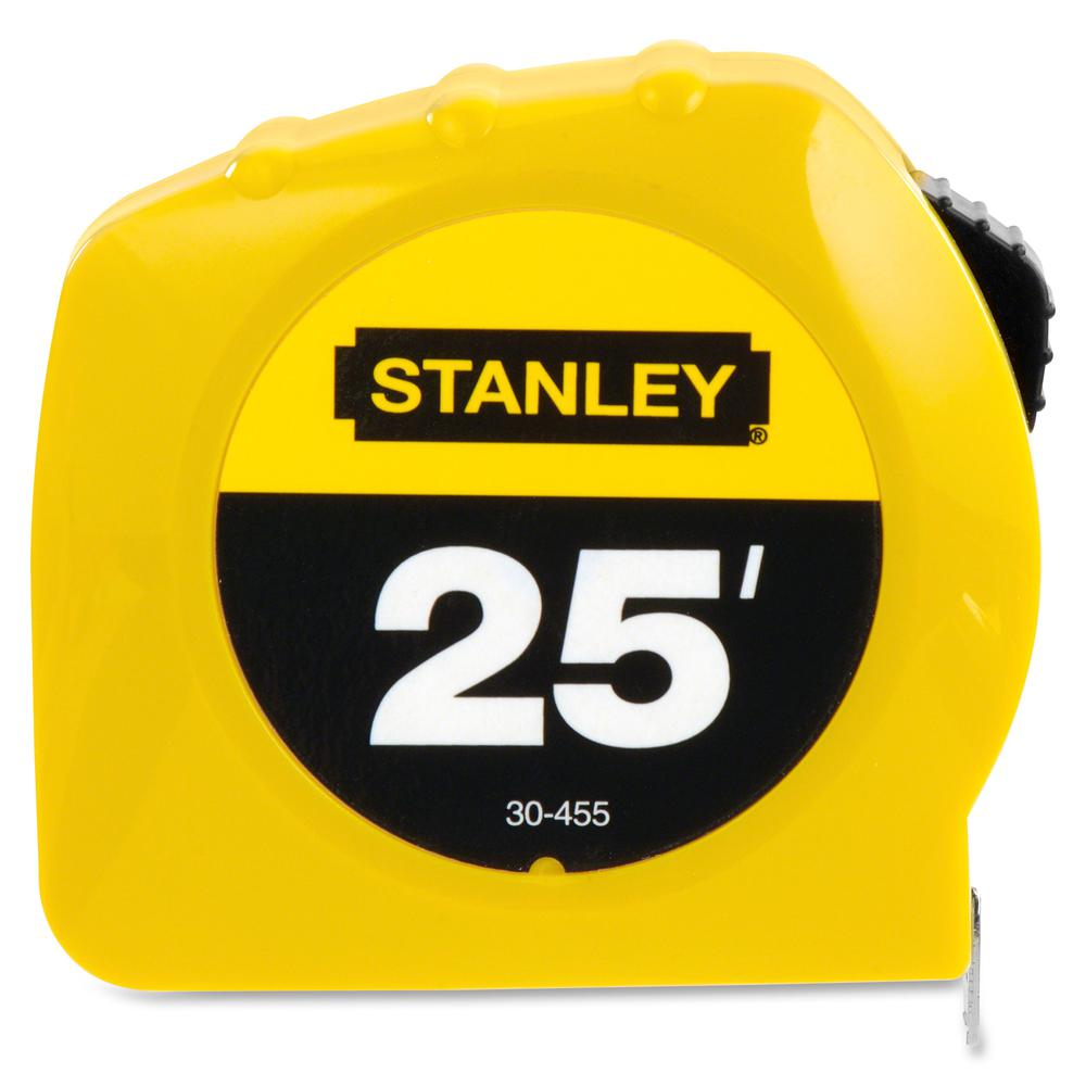 """Stanley Tape Rule - 25 ft Length 1"""" Width - 1/16 Graduations - Imperial Measuring System - Plastic - 1 Each - Yellow. Picture 3"""