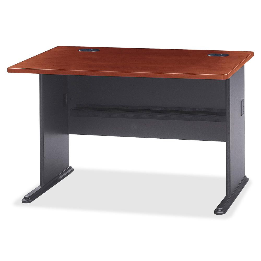 Bush Business Furniture Series A 48W Desk, Hansen Cherry/Galaxy. Picture 5