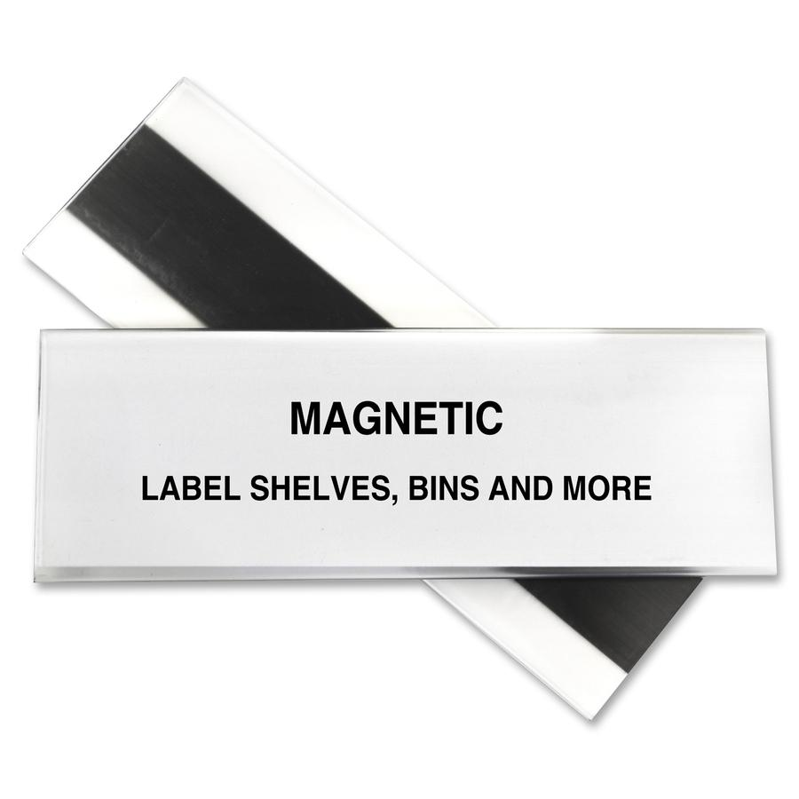 C Line Hol Dex Magnetic Shelf Bin Label Holders 2 Quot X 6