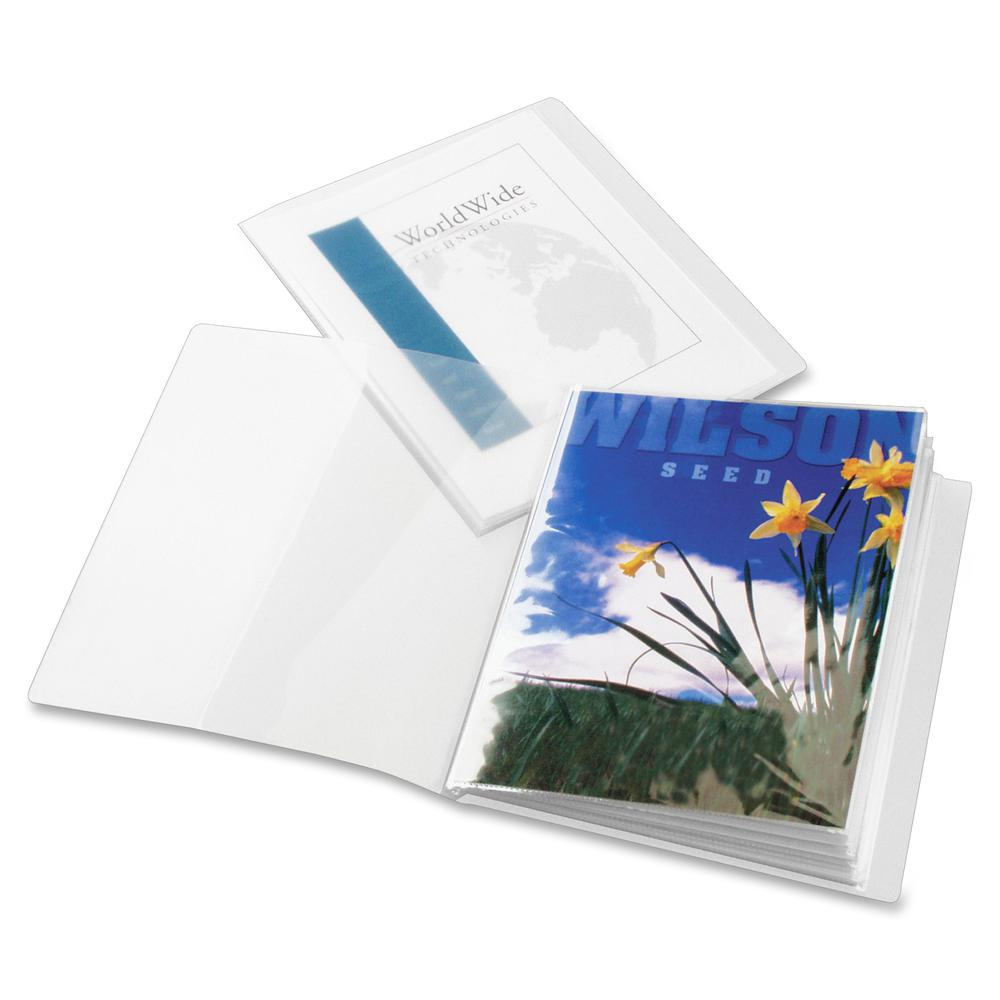 """Cardinal ClearThru Letter Presentation Book - 8 1/2"""" x 11"""" - 24 Sheet Capacity - 12 Internal Pocket(s) - Poly - Clear - 1 Each. Picture 4"""