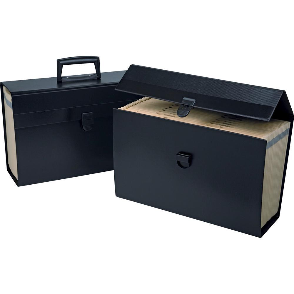 """Pendaflex A-Z Home Portafiles - Letter, Legal - 8 1/2"""" x 11"""" , 8 1/2"""" x 14"""" Sheet Size - 5 1/2"""" Expansion - 19 Pocket(s) - Paper - Black - 1.50 lb - 1 Each. Picture 2"""