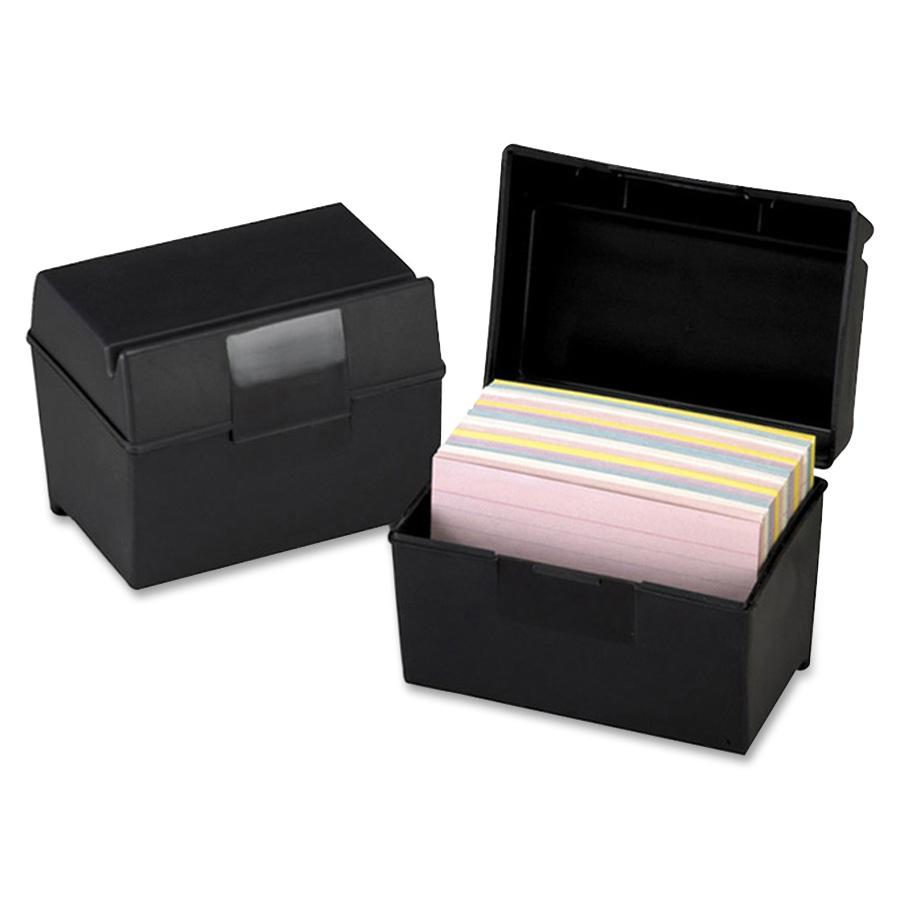 Oxford Plastic Index Card Boxes With Lids External