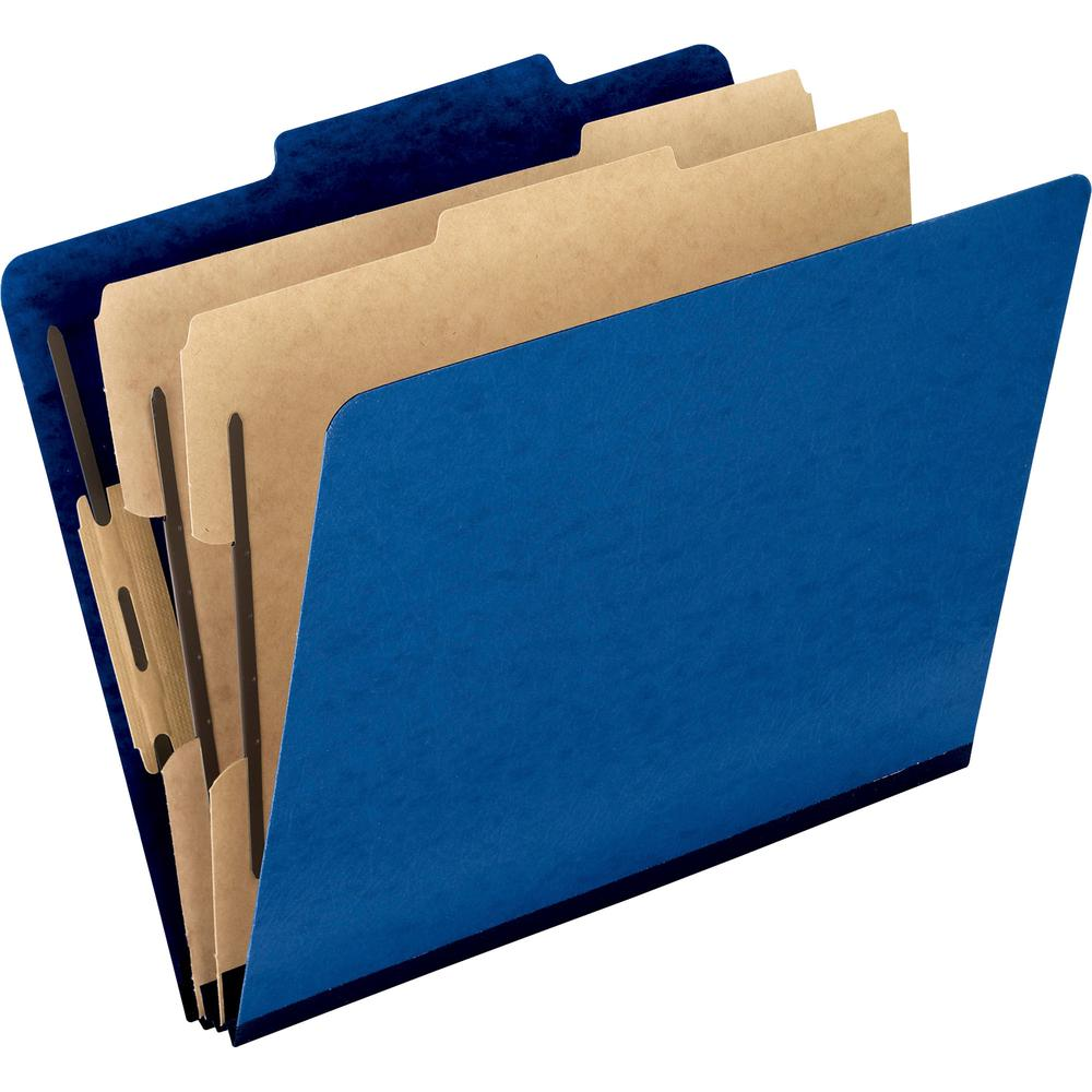 "Pendaflex Pressguard Classification Folders - Letter - 8 1/2"" x 11"" Sheet Size - 2"" Expansion - 4 Fastener(s) - 2"" Fastener Capacity for Folder, 1"" Fastener Capacity for Divider - 2/5 Tab Cut - 2 Divi. Picture 2"