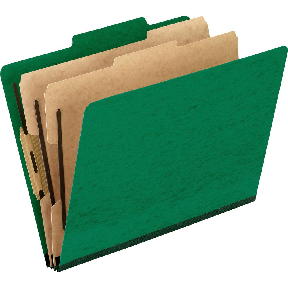 """Pendaflex 2/5 Tab Cut Letter Recycled Classification Folder - 8 1/2"""" x 11"""" - 2"""" Expansion - 4 Fastener(s) - 2"""" Fastener Capacity for Folder, 1"""" Fastener Capacity for Divider - 2 Divider(s) - Pressguar. Picture 2"""