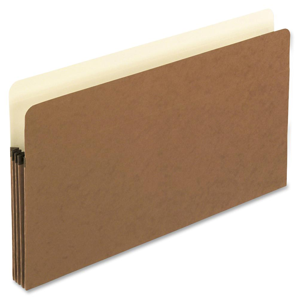 """Pendaflex Redrope File Pockets - Legal - 8 1/2"""" x 14"""" Sheet Size - 3 1/2"""" Expansion - Manila, Red Fiber - 3.84 oz - Recycled. Picture 2"""