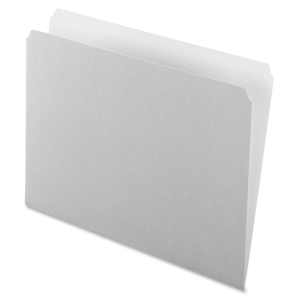"""Pendaflex Straight Cut Colored File Folders - Letter - 8 1/2"""" x 11"""" Sheet Size - 11 pt. Folder Thickness - Gray - Recycled - 100 / Box. Picture 2"""
