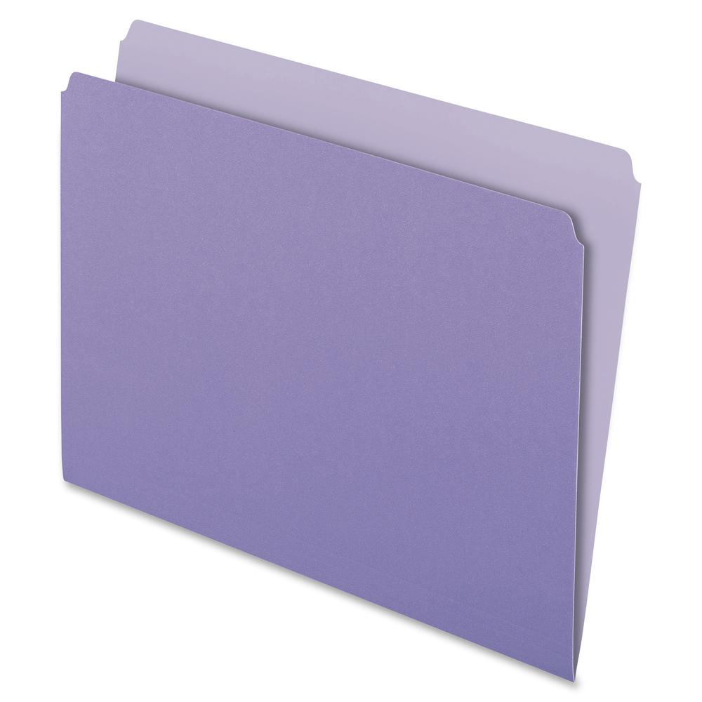 "Pendaflex Letter Recycled Top Tab File Folder - 8 1/2"" x 11"" - Lavender - 30% - 100 / Box. Picture 2"