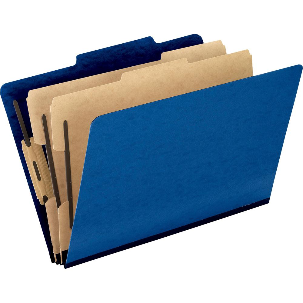 """Pendaflex 2/5 Tab Cut Legal Recycled Classification Folder - 8 1/2"""" x 14"""" - 2"""" Expansion - 4 Fastener(s) - 2"""" Fastener Capacity for Folder, 1"""" Fastener Capacity for Divider - 2 Divider(s) - Pressguard. Picture 4"""