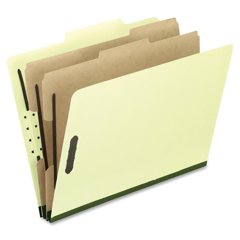 "Pendaflex 2/5 Tab Cut Legal Recycled Classification Folder - 8 1/2"" x 14"" - 2"" Expansion - 4 Fastener(s) - 2"" Fastener Capacity for Folder, 1"" Fastener Capacity for Divider - 2 Divider(s) - Pressguard. Picture 2"