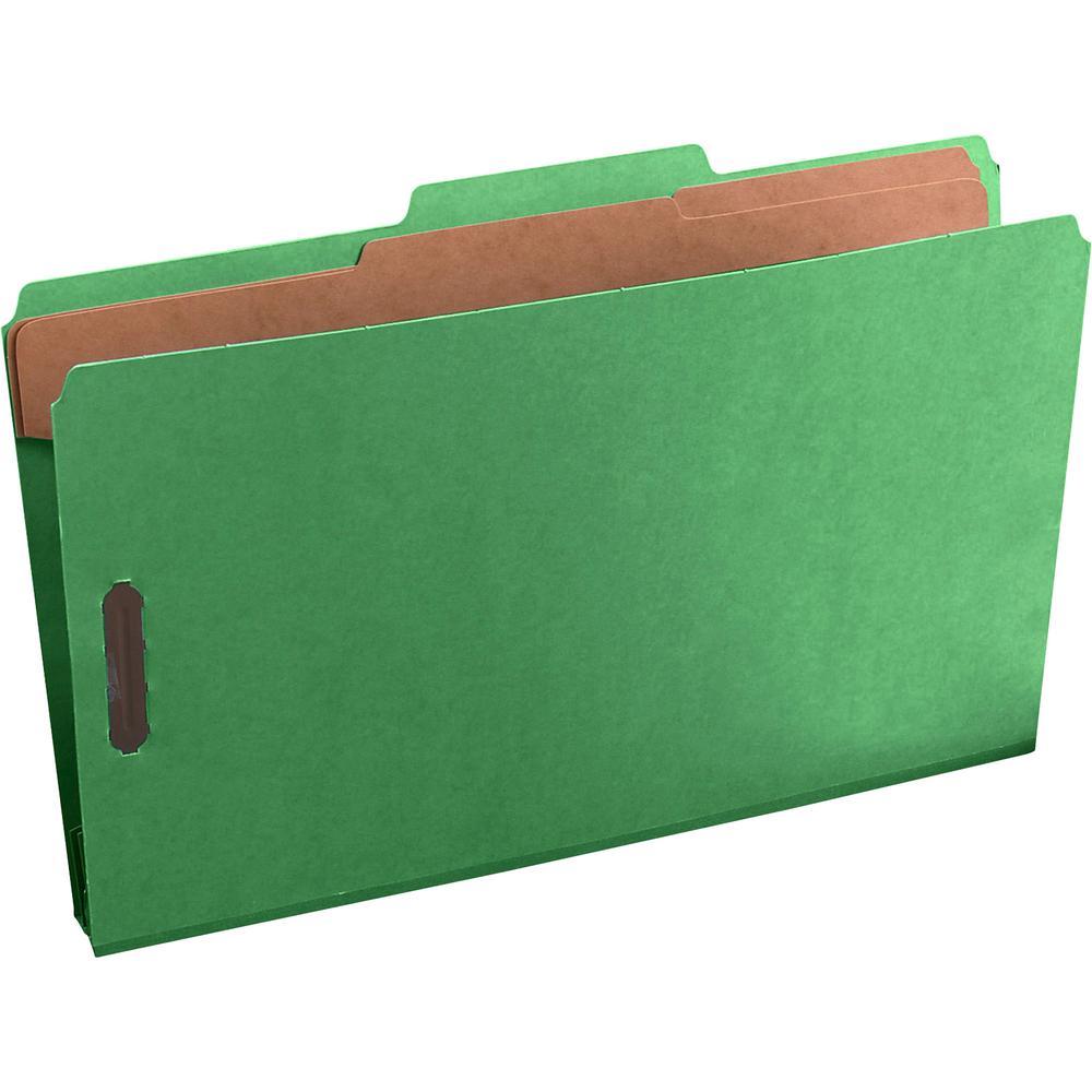 "Pendaflex Pressguard Classification Folders - Legal - 8 1/2"" x 14"" Sheet Size - 2"" Expansion - 4 Fastener(s) - 2"" Fastener Capacity for Folder, 1"" Fastener Capacity for Divider - 2/5 Tab Cut - 2 Divid. Picture 2"